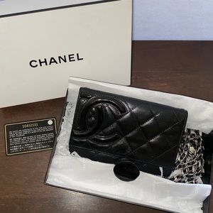 CHANEL Cambon Quilted Wallet on Non CHANEL Chain